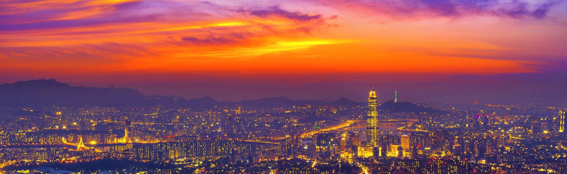 Beautiful Seoul City at Night