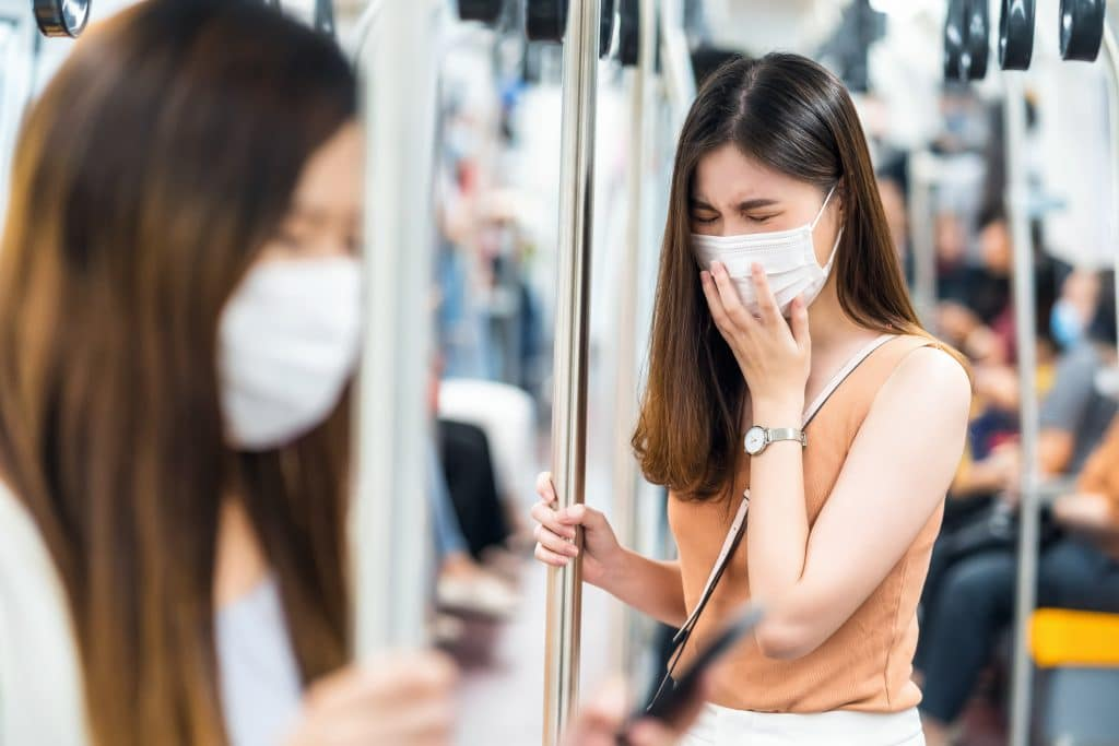Wear a mask on Transportation when travel to Korea during Covid
